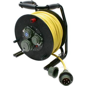 ace tec kabeltrommel 400 v h07rn f5g2 5 50 m gelbes kabel druckwasserdicht. Black Bedroom Furniture Sets. Home Design Ideas